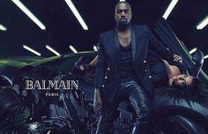 Kanye West y Kim Kardashian Balmain campaign