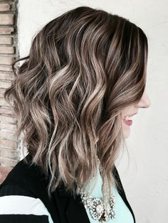 Ash blonde brown balayage