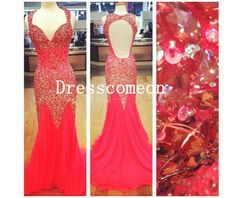 259.00$  Watch now - http://vikvr.justgood.pw/vig/item.php?t=pihd3bq28765 - Luxury Mermaid Straps Heavy Beads Sequins Evening Prom Dress,Party /Formal Dress