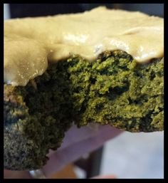 Kale Donuts w/Peanut Butter Icing....vegan, date sweetened.