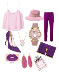 """""""PurplePink"""" by cyntiaalexandra95 on Polyvore featuring Roland Mouret, Nine West, MANGO, Chopard, Maison Michel, Yves Saint Laurent, Bling Jewelry, Smashbox, Christian Dior and New Directions"""