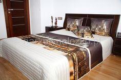 Noce miasto oryginalna narzuta 3D biała na łóżko do pokoju