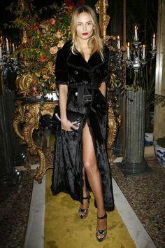 Natasha Poly - Roberto Cavalli Fall 2016 Fashion Show Front Row - February 24, 2016