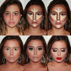Con estos 8 trucos de #Maquillaje podrás hacer lucir tu cara más afilada. No te los pierdas.    #MaquillajeParaCaraRedonda #Contour #TipsDeMaquillaje #Makeup