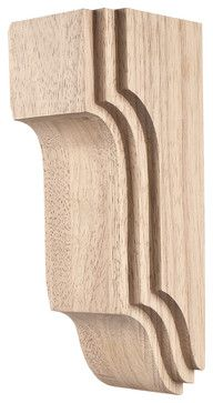 Rubberwood Stacked Arts & Crafts Corbels - traditional - Corbels - Corbel Universe
