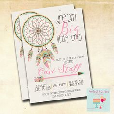 Chica Boho Dream Catcher bebé ducha invitación por PerfectHostess