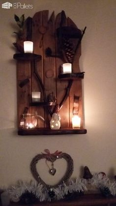 Branch Out With These Pallet Tealight Holders Pallet Home Accessories Pallet Lamps, Pallet Lights & Pallet Lighting