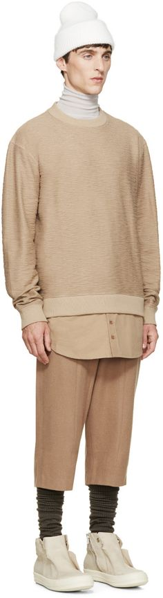 D by D Camel Cropped Trousers