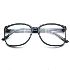 08d0cbbbc6e2 Large Oversized Geek Fashion Glasses Clear Lens Thin Frame Nerd Glasses