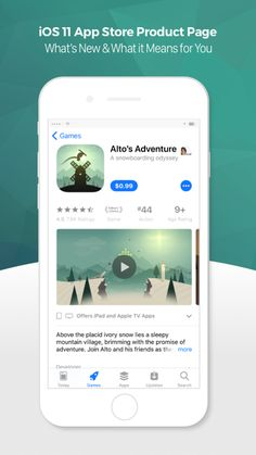 iOS 11 App Store Product Page | New Apple App Store | The New Apple App Store