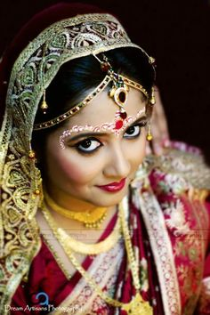 Indian Bridal portrait, Indian wedding