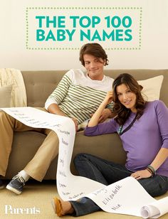 Top 100 Baby Names (via Parents.com)