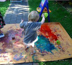 Summer fun = Messy play