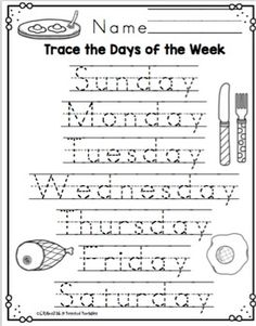"Days of the Week with The Cat in the Hat ""No Prep"" ~ Preschool Printable's Preschool Writing, Numbers Preschool, Preschool Learning Activities, Teaching Kids, Days Of The Week Activities, Teaching Spanish, Printable Preschool Worksheets, Free Kindergarten Worksheets, Homeschool Kindergarten"