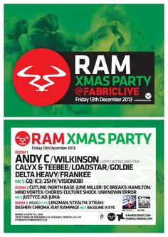 Fabriclive: RAM Records | Fabric | London | https://beatguide.me/london/event/fabric-fabriclive-ram-records-20131213