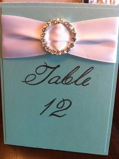 TIFFANY Table Number Deposit by classiceventdesigns on Etsy, $6.00