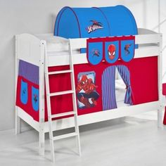 Spider-Man Bunk Bed With Curtain And Two Slats High Sleeper Bedroom Furniture   Enjoy this Cheap Item. Take a look LUXURY HOME BRANDS and get this offerNow!
