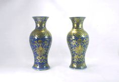 Antique Chinese Powder Blue Porcelain Vases by MinistryOfArtifacts