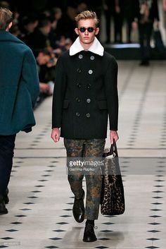 model walks the runway at the Burberry Prorsum Autumn Winter 2015... News Photo   Getty Images