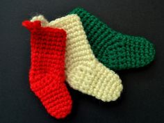 Red White and Green Stockings
