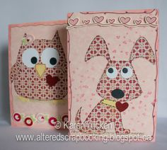 Owl and Dog Valentine Cards