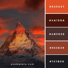 Mountain Under Cloudy Blue Sky Color Palette by ave mateiu Color Schemes Colour Palettes, Colour Pallette, Color Palate, Rustic Color Palettes, Earth Tone Colors, Earth Tones, Boutique Deco, Colour Board, Color Swatches
