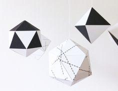 little monster geometric ornaments