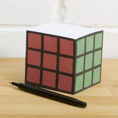 """Rubik's Cube Notepad – This rubik's cube notepad will fool anyone to think you have solved this amazing popular old school puzzle. However, in reality this is just a cool """"Unusual"""" Rubik's cube shaped. Outdoor Gadgets, Sticky Paper, Unique Gadgets, Cool Office, Cool Inventions, Unusual Gifts, Love Design, Sticky Notes, Rubik's Cube"""
