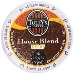 Tullys Coffee Decaffeinated House Blend KCup Portion Pack for Keurig KCup Brewers 24Count ** More info could be found at the image url. (This is an affiliate link)