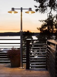 NORLYS Lund galvanised steel light post with two lights - Price: $769.00 AUD