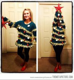 Ugly Christmas sweater party idea I want to have a party this year and do this lol