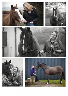 Horse/owner portrait pose.