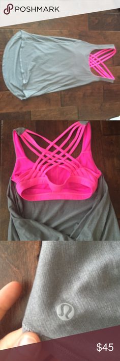 Lululemon free to be wild tank Like new condition size 6. lululemon athletica Tops Tank Tops