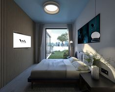 Small bedroom with a special focus on implementing the right decor so that it looks spacious and simplified! Romania, Architects, 3d, Bedroom, Furniture, Instagram, Home Decor, Decoration Home, Room Decor