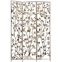 Brass Leaf Relief Screen   From a unique collection of antique and modern screens at https://www.1stdibs.com/furniture/more-furniture-collectibles/screens/