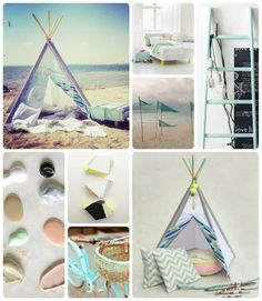 TEEPEE Little NOMAD. outdoor. mint. beach