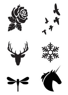Mini Black Temporary Tattoos Group 8