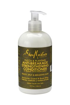 This fortifying conditioner detangles and smoothes hair cuticles to reduce frizz and improve the appearance of split ends. Certified organic Shea Butter, Plantain and Yucca combine in a strengthening