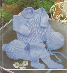 Baby Boy/Girl Pram Set Knitting Pattern PDF (17). $2.50, via Etsy.
