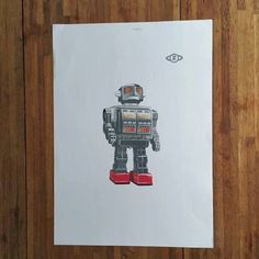 Most Recommended Shop image of Robot, Of Which Name is Roboto Comes from Japan Style Art Poster, A3 image Now, Good for the Interior Gift by HeyCi on Etsy