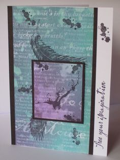GET 10% off! Use code SEPT10!   Free Your Imagination card - turquoise £3.00