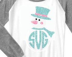 Snowman svg snowman monogram svg frosty by ShortsandLemons on Etsy