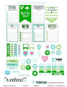 Free Planner Stickers | [ One Velvet Morning ]