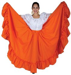 Great quality practice skirts for Ballet Folklorico Dance Outfits, Dance Dresses, Folklorico Dresses, Fiesta Outfit, Full Length Skirts, Mexican Dresses, Gypsy Skirt, Costume Ideas, Costumes