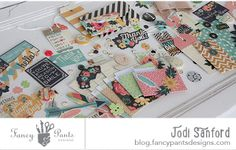 SNAIL MAIL FLIP BOOK INSPIRATION - Burlap and Bouquets embellishment love!  New from Fancy Pants Designs!