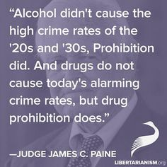 End the war on drugs!  Prohibition causes crime!