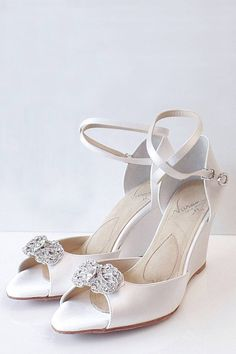 Angela Nuran Marquesa Wedge Sandal - available at laurajayne.com - This wedged are perfect for dancing all night! Customisation are available!