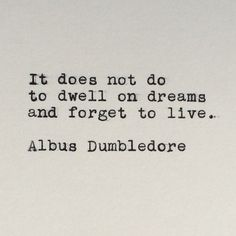Harry Potter Quote (Albus Dumbledore Quote) Typed on Typewriter - 4x6 White…