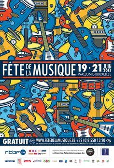 Fête de la Musique 2015 on Behance