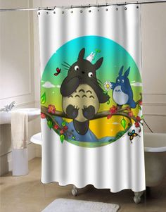 totoro custom shower curtain for bathroom ideas